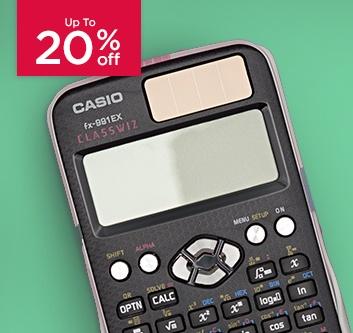 Up to 20% Off Casio Calculators