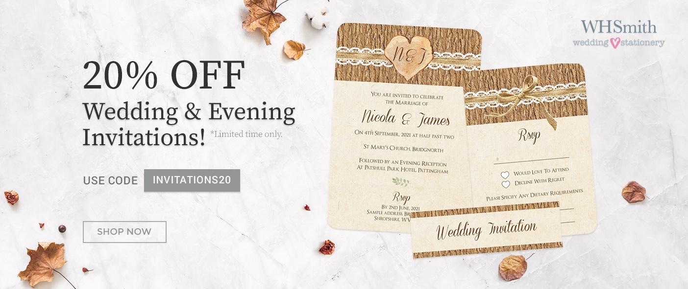 WHSmith Wedding Stationery