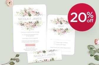 20% Off Personalised Wedding Stationery