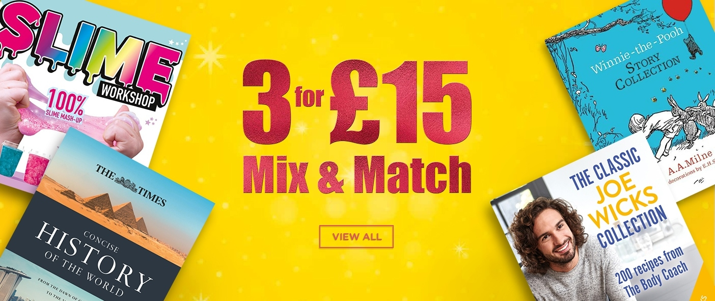 3 for £15 Mix and Match Books