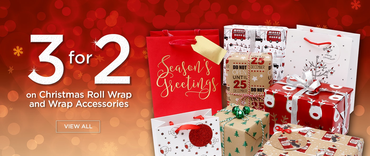 3 for 2 on Wrap and Wrap Accessories