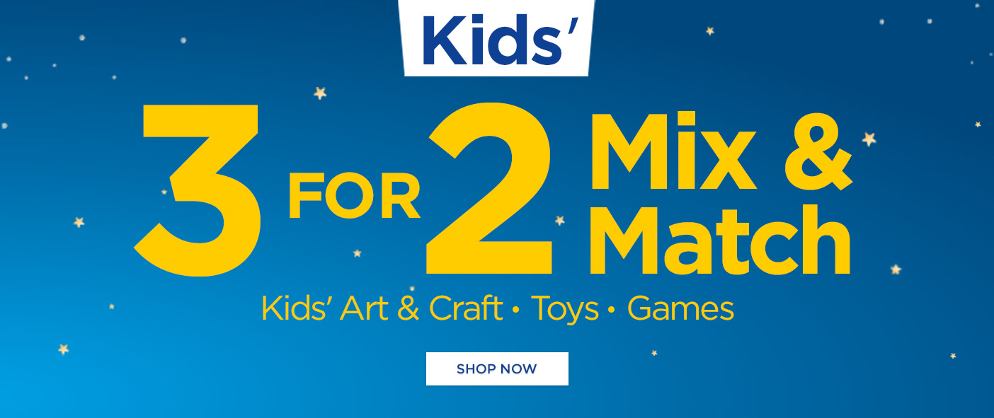 Kids' 3 For 2 Mix and Match