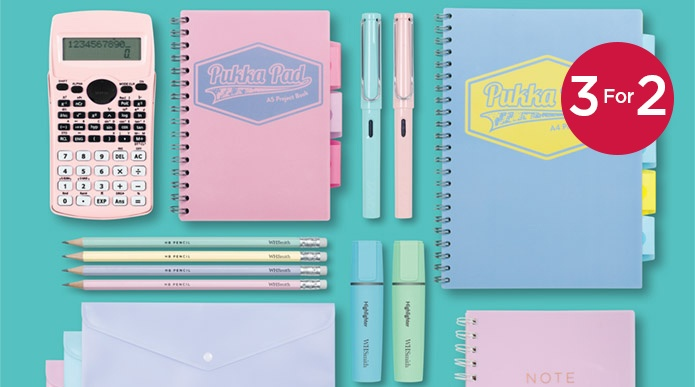3 For 2 Pastel Stationery