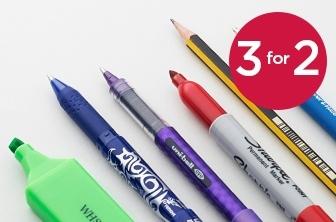 3 For 2 Essential Pens & Pencils