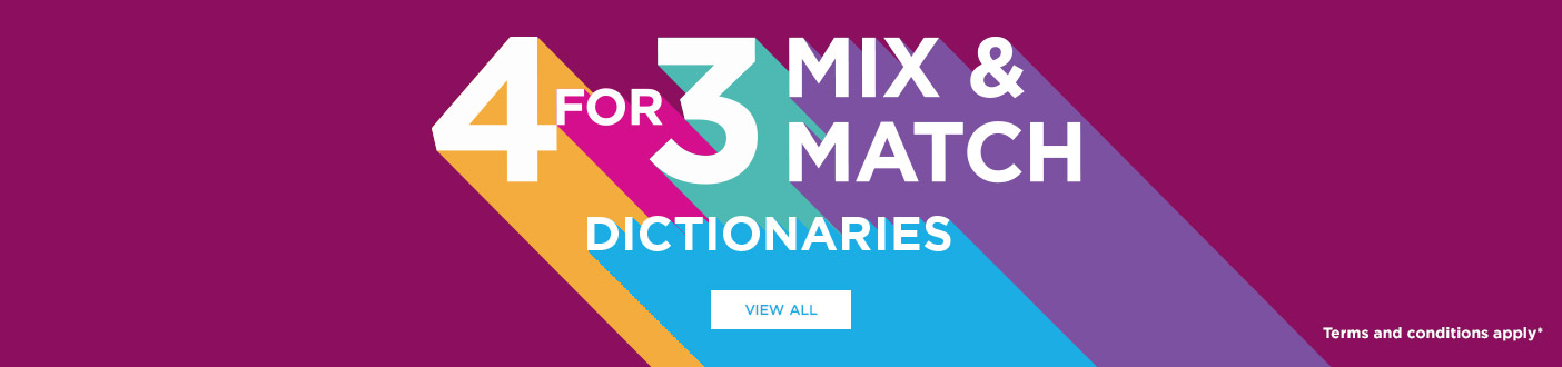 4 for 3 Selected Dictionaries