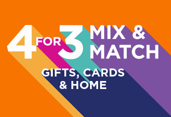 4 For 3 Mix and Match Gifts, Cards and Home