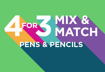 4 For 3 Mix and Match Pens and Pencils