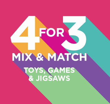 4 For 3 Toys, Games and Jigsaws