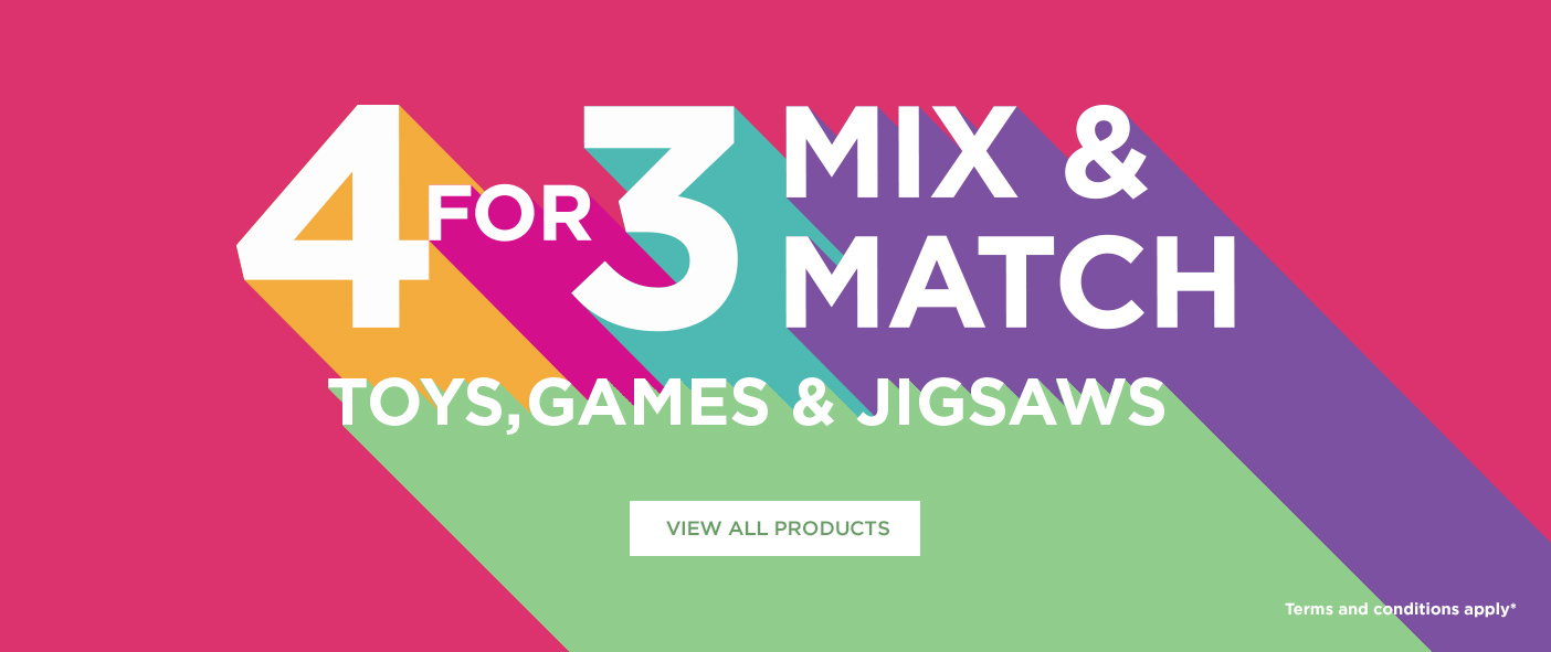 4 For 3 Mix and Match Toys, Games and Jigsaws