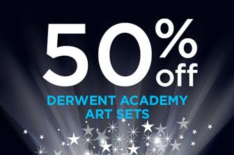 50% Off Derwent Academy Sets