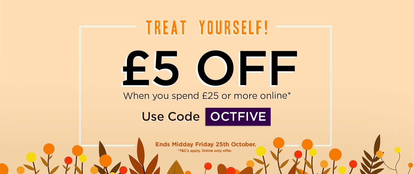 £5 Off When You Spend £25 Or More Online