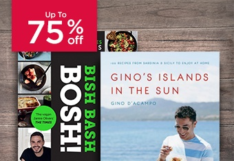 Up to 75% Off Cookery Books