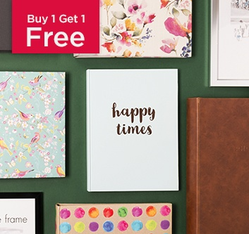 Buy 1 Get 1 Free Photo Albums & Frames