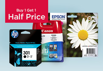 Buy 1 Get 1 Half Price Printer Ink