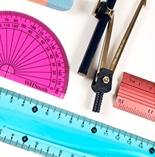 Rulers and Maths Sets