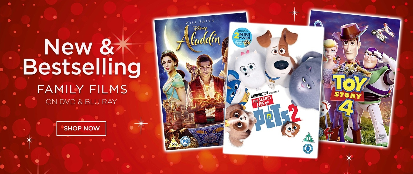 New & Bestselling Family Films on DVD and Blu Ray