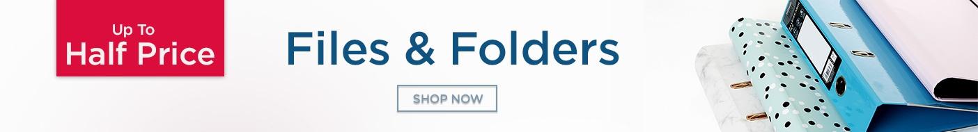 Up to Half Price Files & Folders