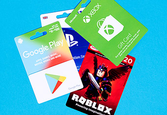 Gaming Gift Cards and Digital Downloads