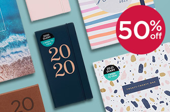 50% Off 2020-21 Academic Mid-Year Diaries