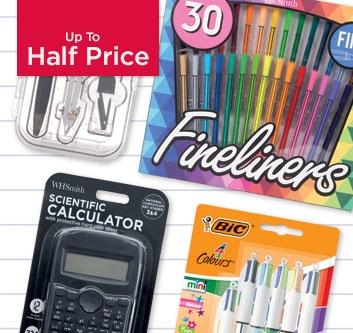 Up to Half Price Back to School Essentials