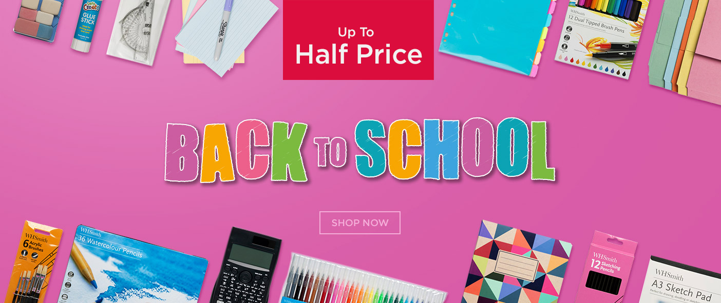Up to Half Price Back to School Essentials