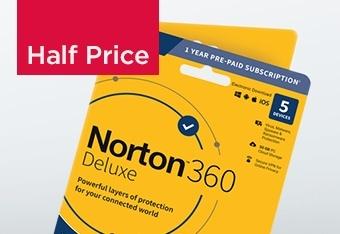 Norton 360 Deluxe 5 Device, Half Price Only £19.99