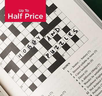 Up to Half Price Puzzle and Hobby Books