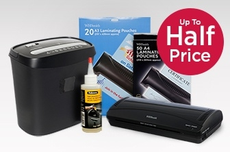 Up to Half Price Shredding and Laminating