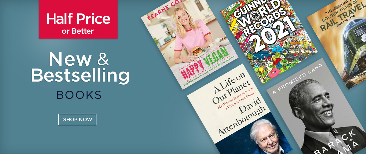 Half Price or Better New and Bestselling Books