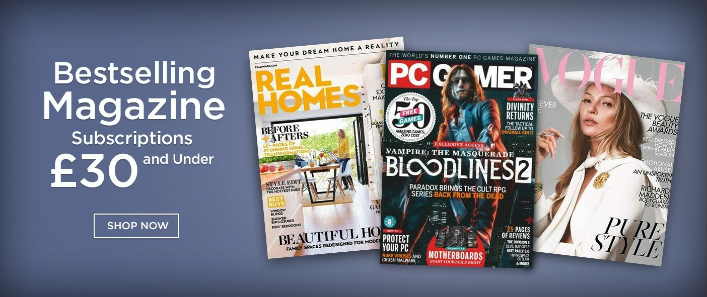 Bestselling Magazine Subscriptions £30 and Under