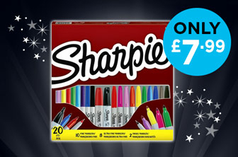 Sharpie 20 Pack for only £7.99