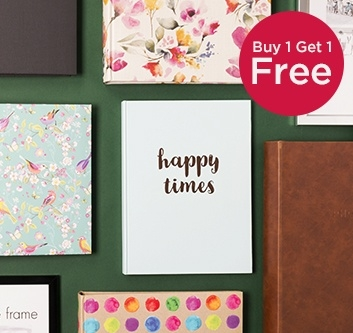Buy 1 Get 1 Free Photo Albums & Frames