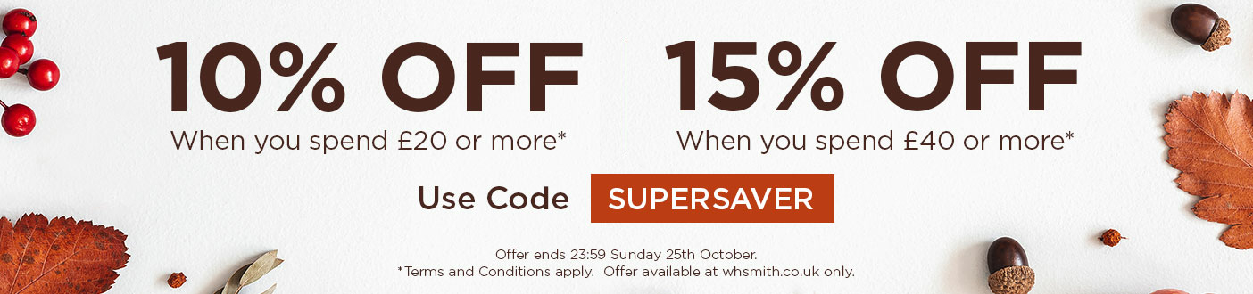 10% Off When You Spend £20 Or More, 15% Off When You Spend £40 Or More