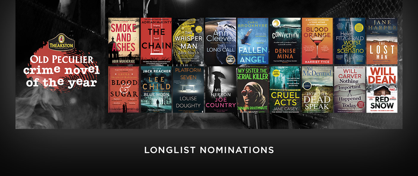 Theakston Old Peculier Crime Novel of the Year Award 2020 Longlist