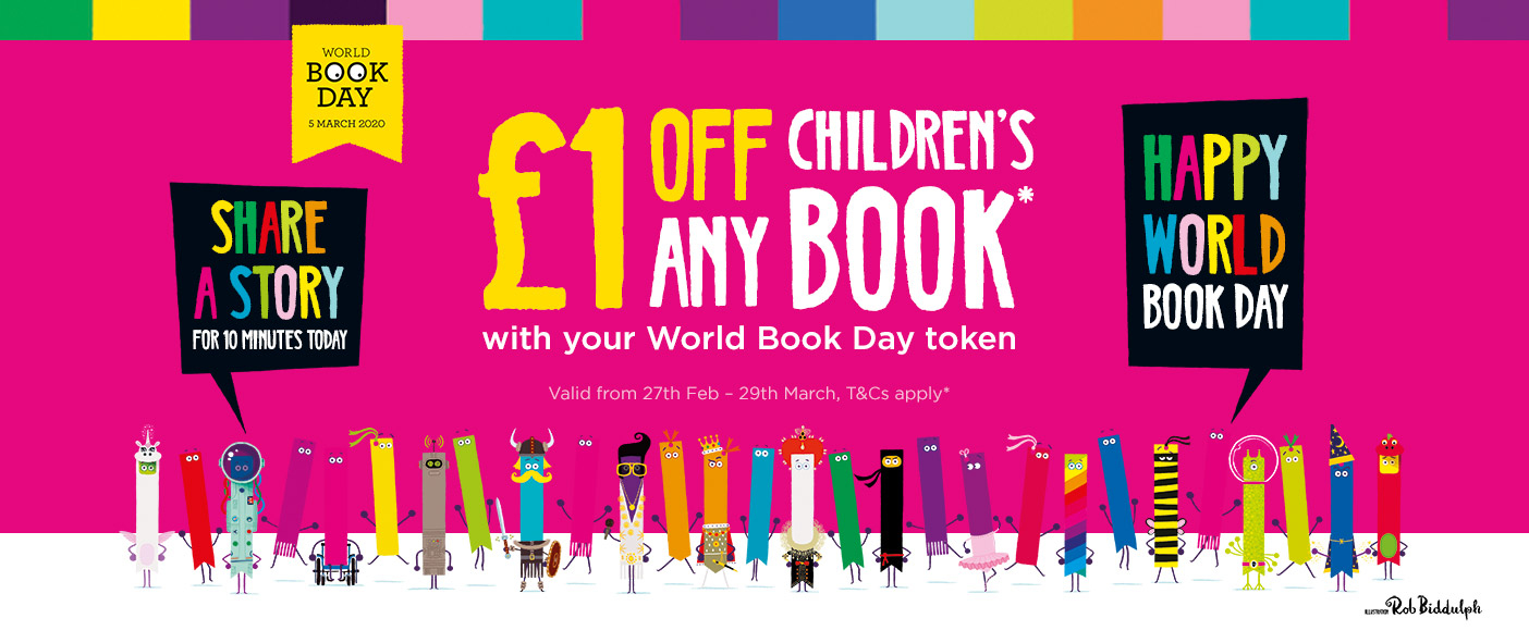 £1 Off Any Children's Book With Your World Book Day Token (T&Cs Apply)