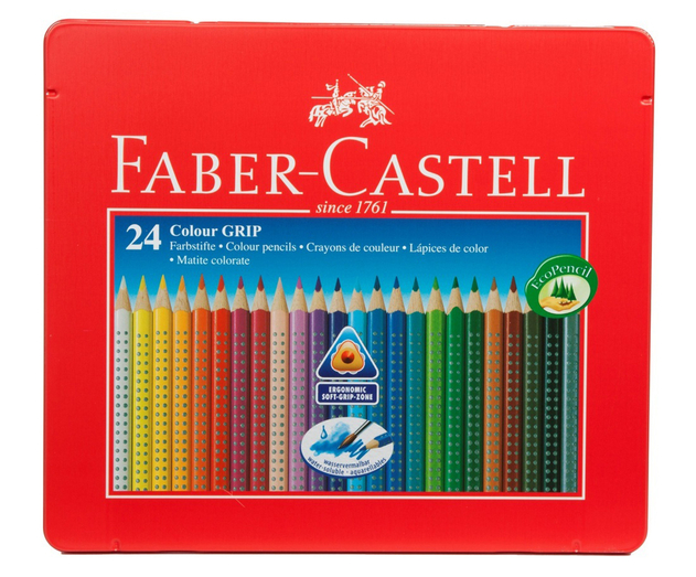 faber-castell colour grip colouring pencils (pack of 24