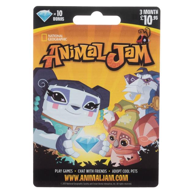 Animal Jam 3 Month 10 95 Gift Card Whsmith