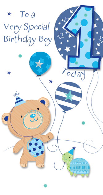 Happy 1st Birthday Boy.Ling Design Birthday Boy 3d Large 1st Birthday Card Whsmith