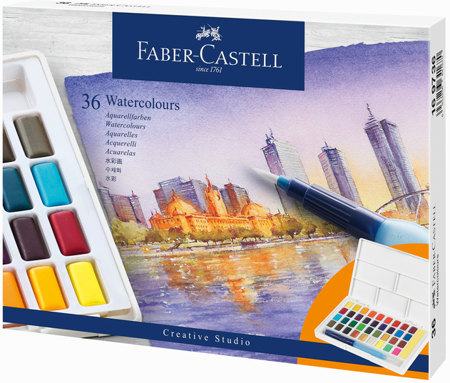 Faber Castell Watercolour Pencils Water Soluble Box 36 114466 PB616