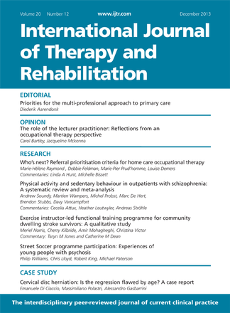 International Journal Of Therapy And Rehabilitation