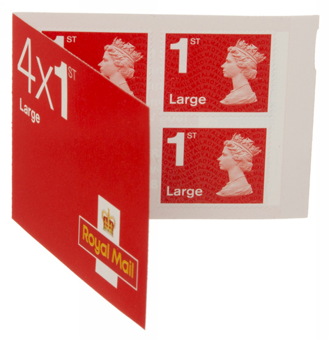 Royal Mail Large Letter First Class Stamps (Pack of 4)