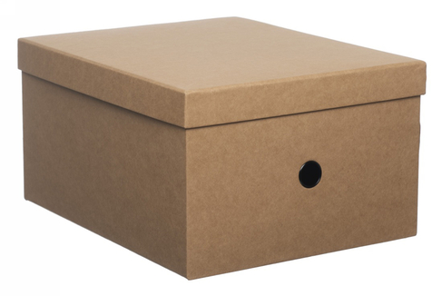 d00076154695 WHSmith Simple Style Brown Kraft Large Storage Box