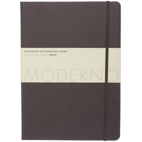 5b6f3150345 Recently Viewed. WHSmith Moderno Chocolate Leather Effect A4 Notebook  Journal