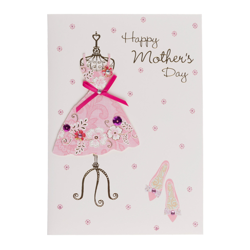 PACK 2 HAPPY MOTHERS DAY PINK ENVELOPE EMELLISHMENTS FOR CARDS OR CRAFTS