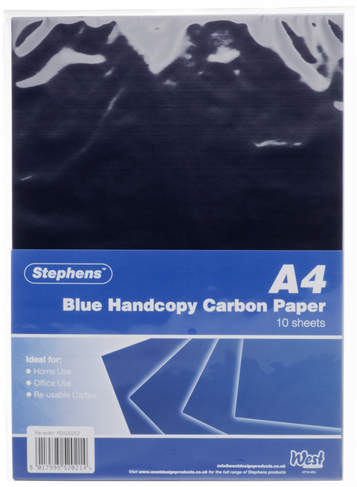 Blue Handcopy Carbon Paper 10 Sheets Whsmith