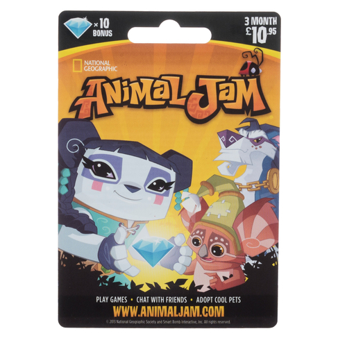 Animal Jam 3 Month 10 95 Gift Card