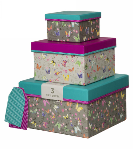 cc4d5cd7e19 WHSmith Amelie Butterfly Nested Gift Boxes (Pack of 3)