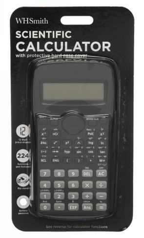 WHSmith Black Scientific Calculator