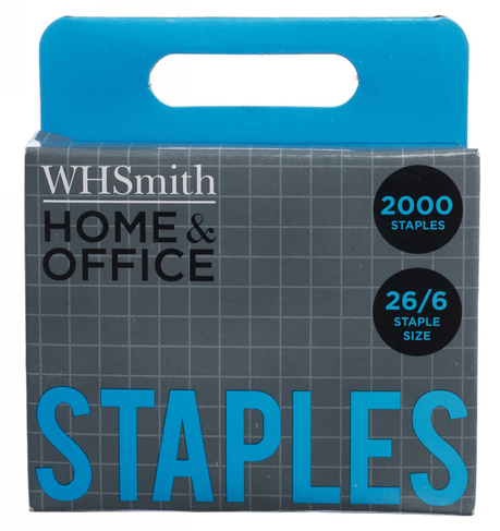 WHSmith Home & Office Staples 26/6 (Pack of 2000)