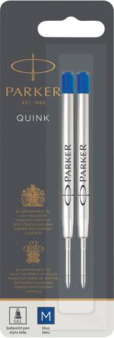 Blue Parker Quink Refills Pack Of 2